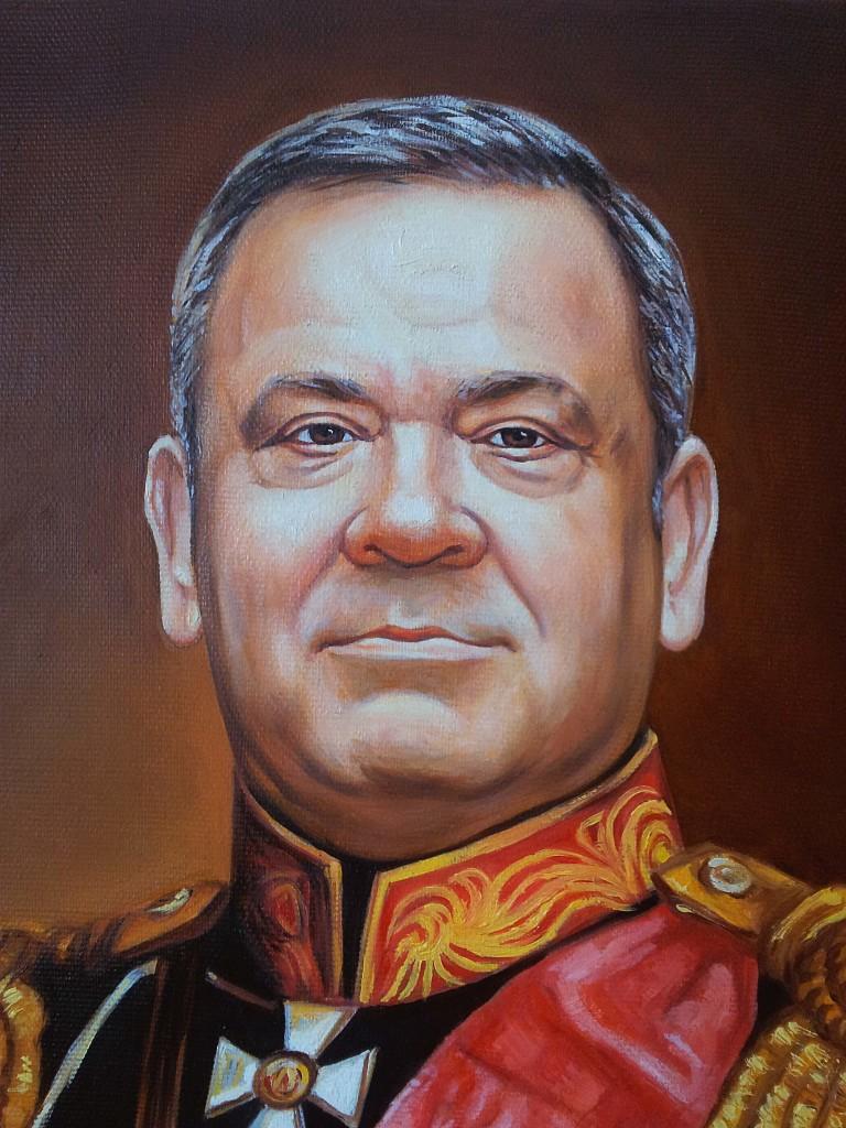 Портрет маслом на холсте в Сургуте