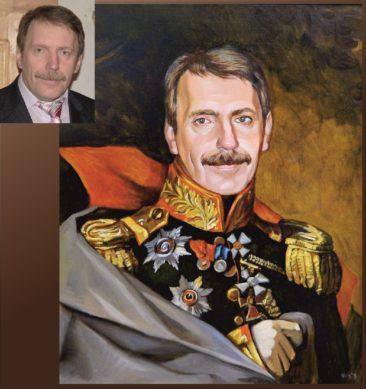 Настоящий портрет маслом на заказ в Сургуте…