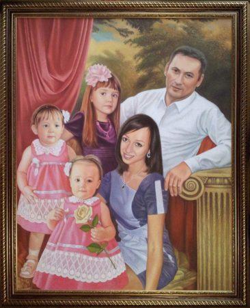 Семейный портрет маслом в Сургуте — правильная традиция…