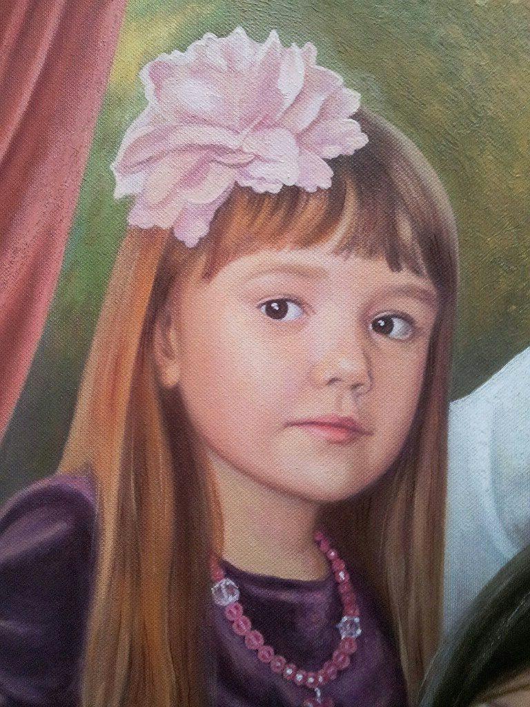 Семейный портрет на холсте Сургут