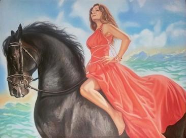 Настоящий портрет маслом на холсте в Сургуте…