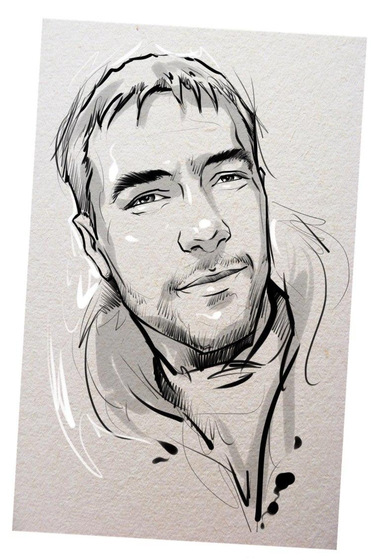 Портрет карандашом любимому мужу в Сургуте…