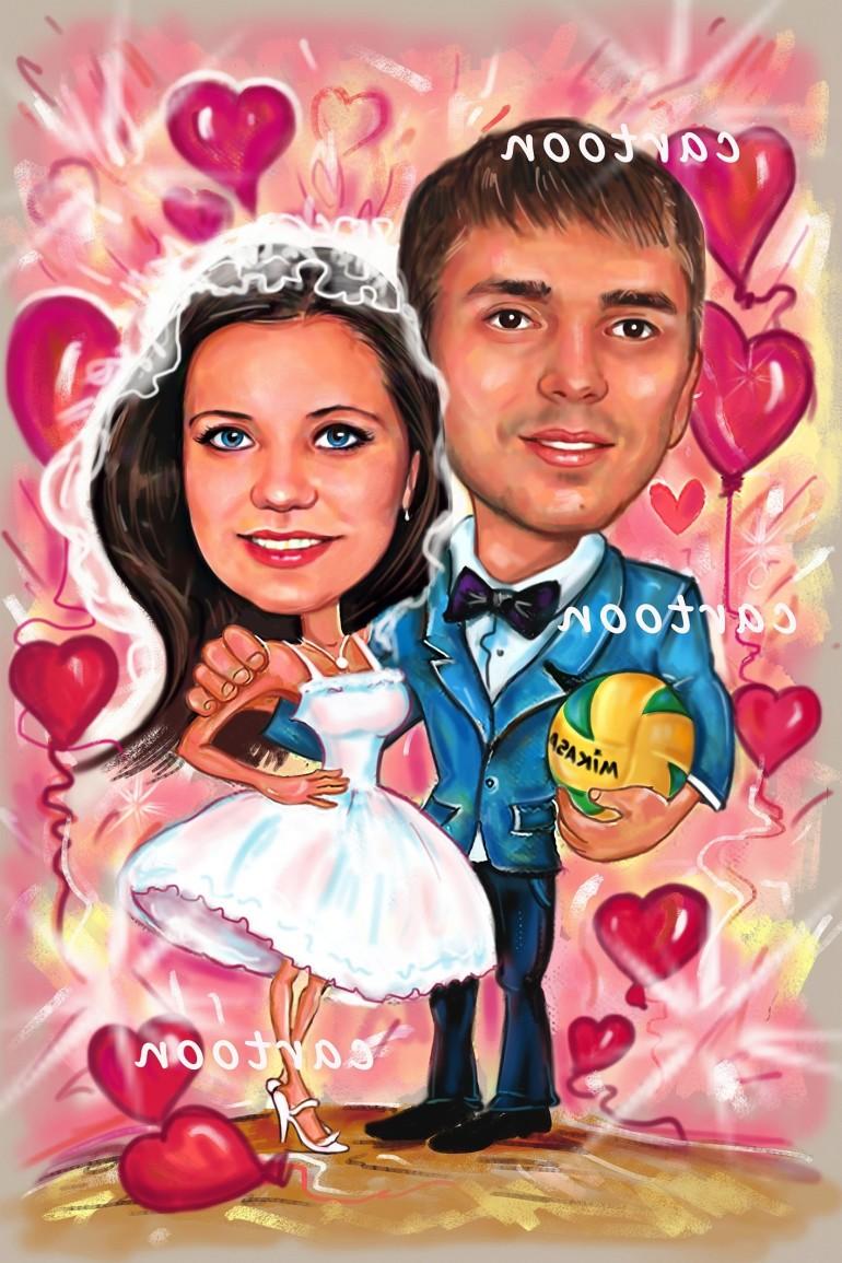 Свадебный шарж с оригинальным сюжетом в Сургуте!