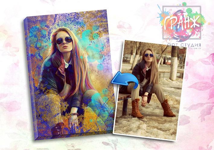 Портрет по фото на заказ в честь 8 марта в Сургуте