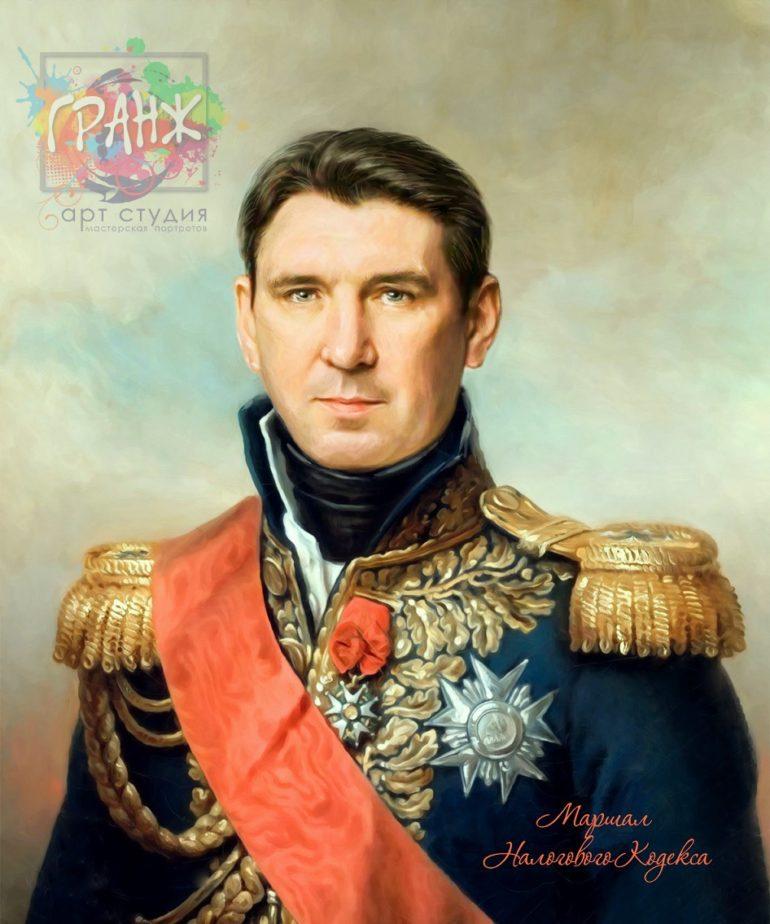 Портрет по фото на холсте в подарок мужчине на 23 февраля Сургут