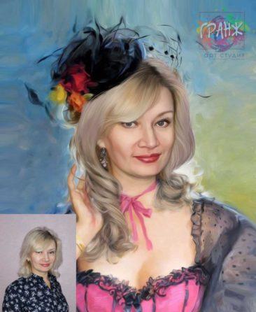Заказать арт портрет по фото на холсте в Сургуте