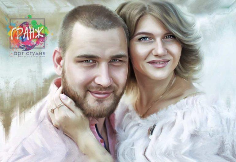 Где заказать портрет по фотографии на холсте в Сургуте?