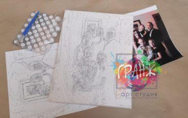 Картина по номерам по фото, портреты на холсте и дереве в Сургуте